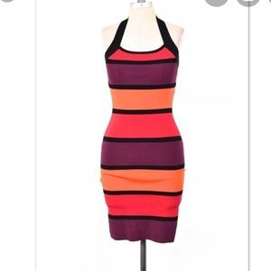 Express striped bandage dress
